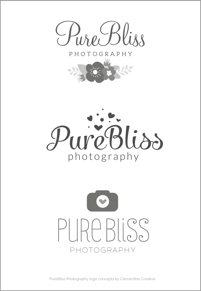 Logo & Business Card for PureBliss Photography