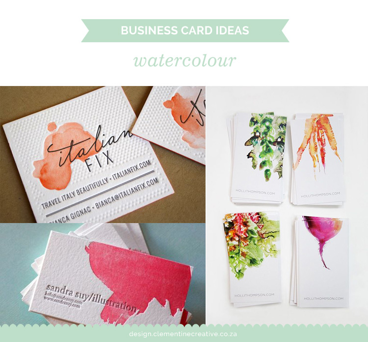 Business Card Ideas Watercolour