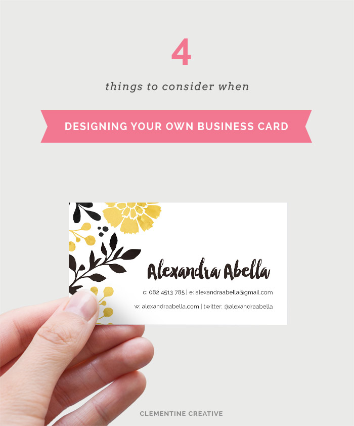 Tips For Designing Your Own Business Card Part 1