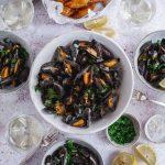 moules au vin blanc et frites