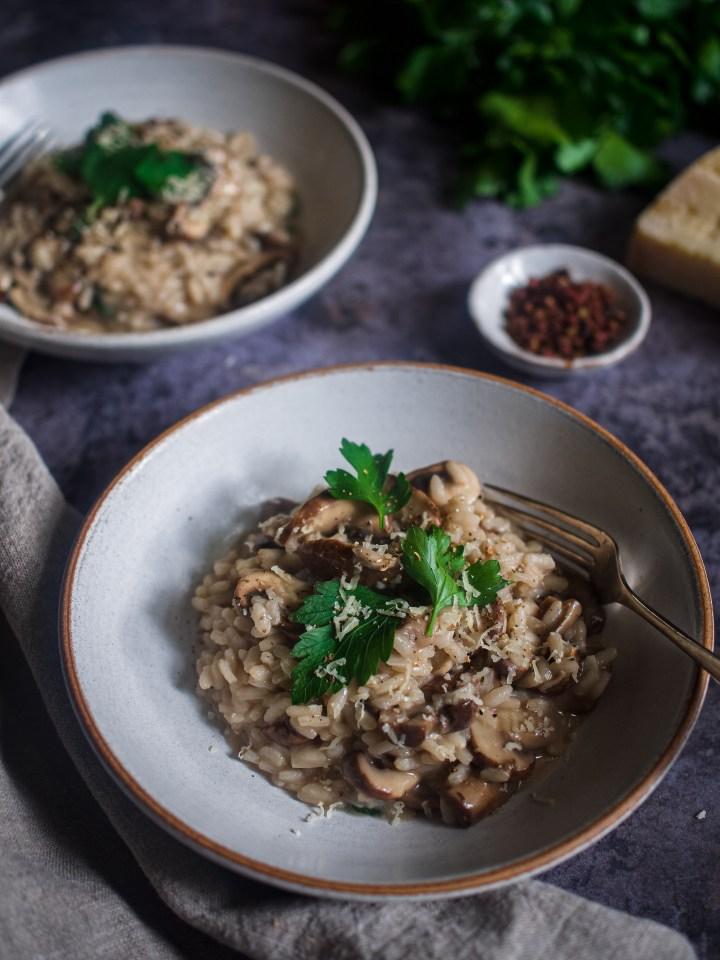 un bol de risotto