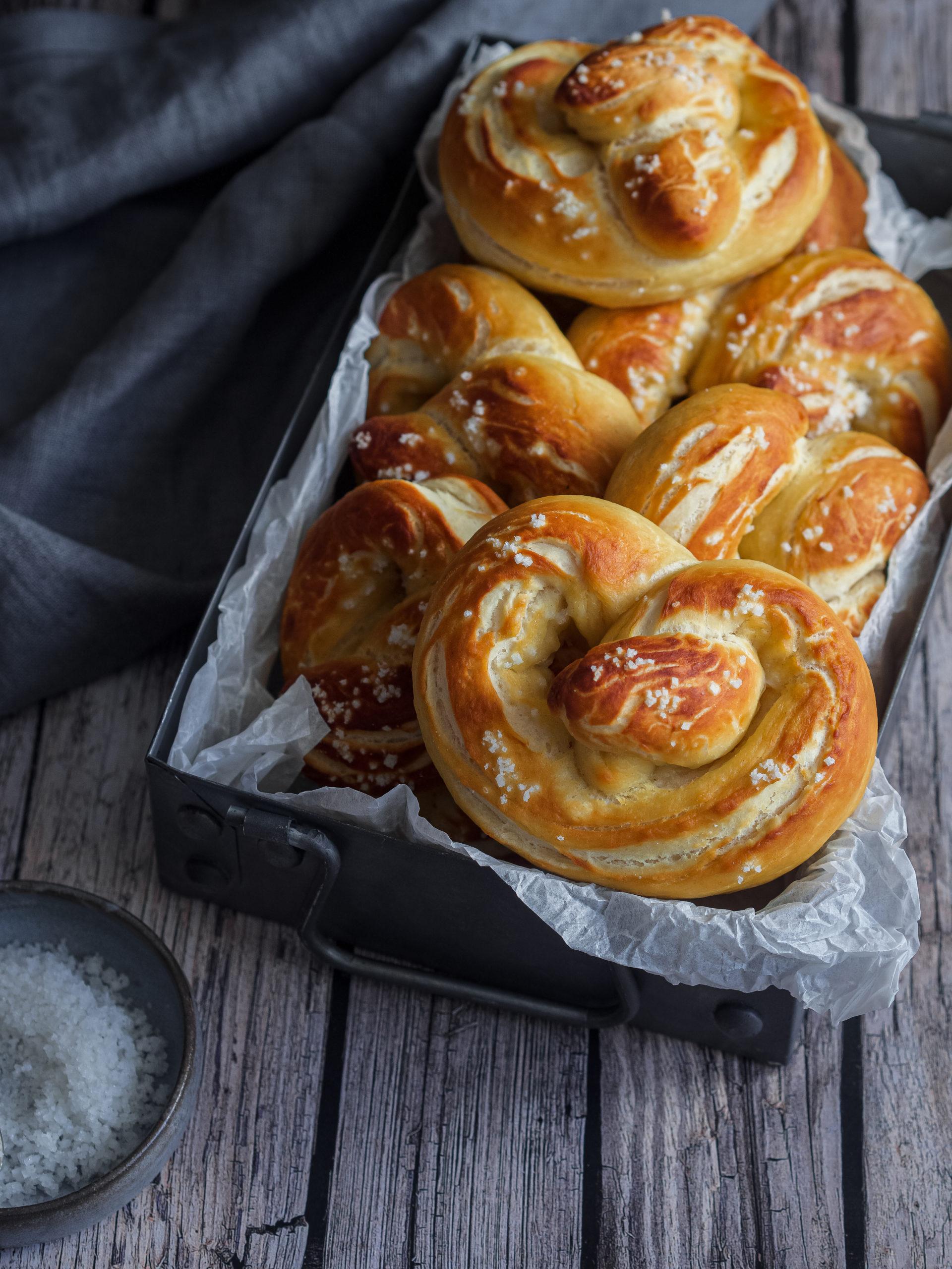 petits pretzels bien dorés