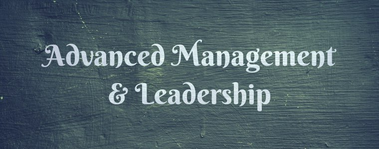 Advanced management and leadership
