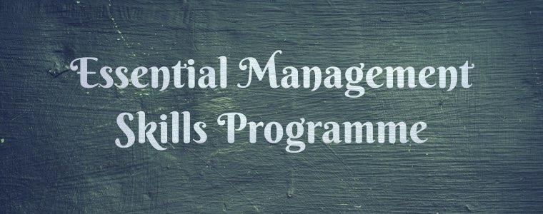 Essential management skills programme