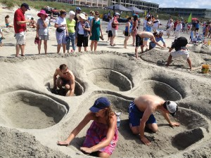 Isle of Palms - Architecture majors Jeremy Tate '00, M '05; Betsy Baker Story '00; Ben Story '00, M '05; Adrienne