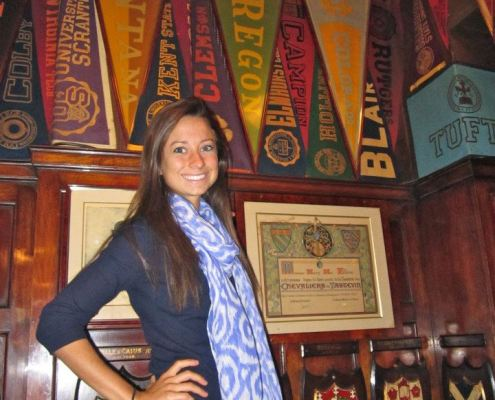 France - Katherine Vendley '13 spotted an old Clemson pennant at the famous Harry's Bar in Paris.
