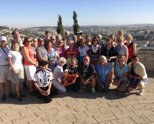 Israel - Clemson United Methodist Church sponsored a trip to the Holy Land, and the group was sure to show their Tiger pride.