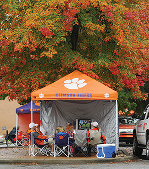 Youu0027ll find all the comforts of home in some tailgating tents including TVs & Clemson World Magazine | Tailgating with the Tigers