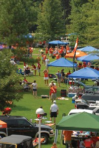 Tiger tailgating has the feel of a large family reunion.