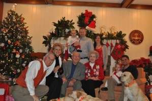 The First Family, with all four generations, Christmas 2011
