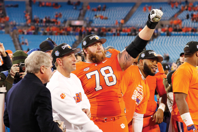 during the Dr Pepper ACC Football Championship Game in Charlotte, N.C., Dec. 6, 2015. (Photo by Jason E. Miczek, theACC.com)