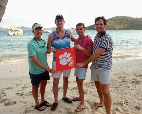 John Young '88, Philip Bradley '92, Phil Dufford '88 and Glen Gardner'00 sailed the British Virgin Islands in February.