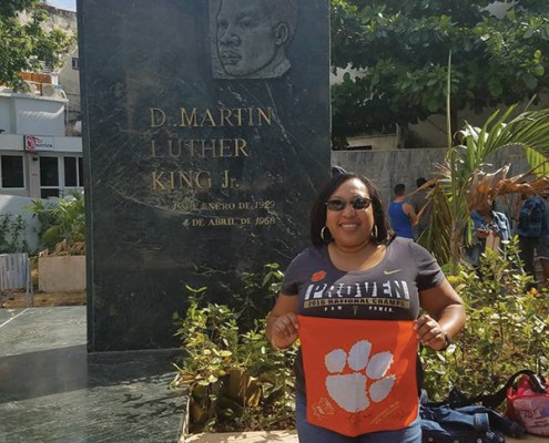 Tiffany Sweeney '99 traveled to Havana, Cuba, in March and came across a Martin Luther King Jr. Memorial. Sweeney said she was amazed to see how influential the Civil Rights Movement was in the U.S. to have made a mark in another country.