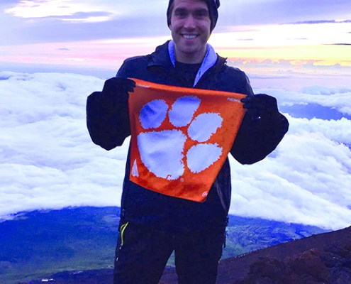 Chris Berry '17 summited Mt Fuji in Japan during his summer internship for his master's degree in engineering at Clemson.