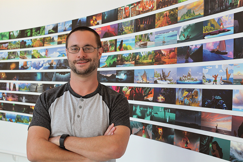 Marc Bryant at Walt Disney Animation Studios in California.