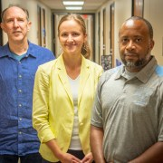 Mark Small, Natallia Sianko and Boyd Owens (left to right) are the architects of a program that will bring STEM education to at-risk youth in South Carolina.