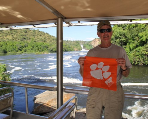 Uganda: Bill Anderson '68 aboard the African Queen on the White Nile River in Murchison Falls National Game Park during a mission trip to northern Uganda in Oct. 2018.
