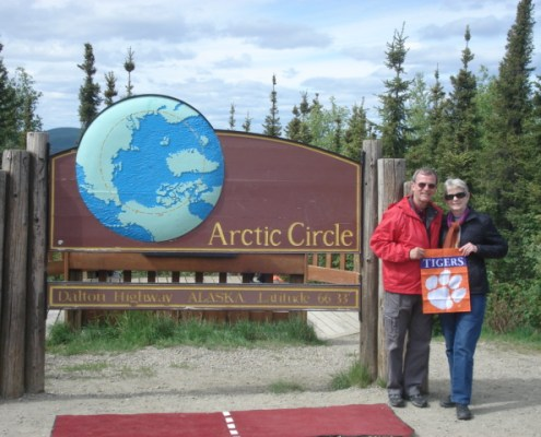 Alaska: Mike Barnhart '72 and his wife, Alexa, visited the Arctic Circle.