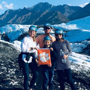 Alaska: David Koblauch '94 and his family traveled to the Matanuska Glacier in southern Alaska.