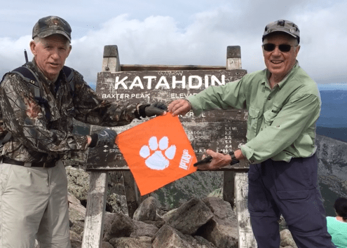 Maine: Alan Kuester '69 and his friend Toney, both long-time section hikers of the Appalachian Trail, summited Mount Katahdin on Sept. 11, 2019, at an elevation of 5,267 feet.