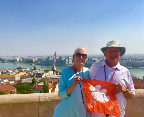 Hungary: John Winfield '79 and his wife, Laura, took a trip to Budapest.