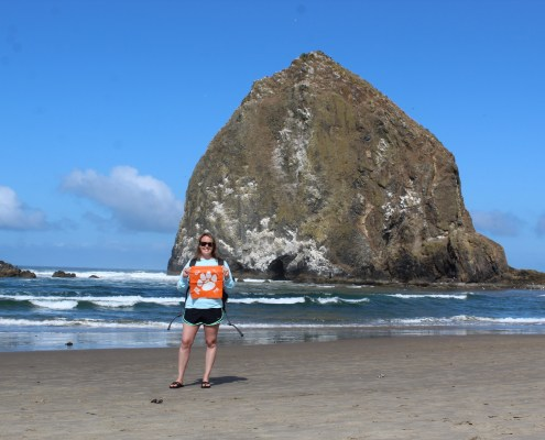 Oregon: Kelli Garcia '10 traveled to the Pacific Northwest and visited the Oregon Coast to see the Haystack Rock landmark in Cannon Beach, Oregon.