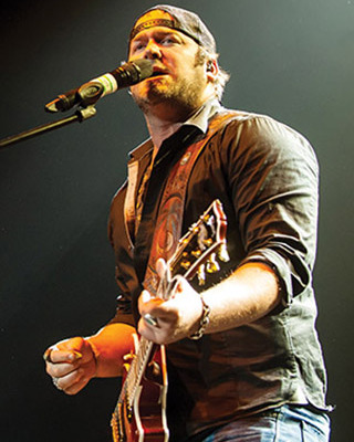"A four-time Academy of Country Music nominee, Lee Brice has had a highly successful album, a single (""A Woman Like You"") that reached No. 1 in April 2012, and a top-5 single officially certifed Gold by the Recording Industry Association of America. Photo by Chris Newman."