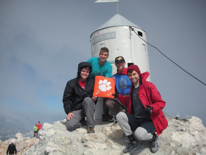 Slovenia Shoue Bell '11, Scott Rickard '12, Kyle Sporrer '12 and Will Gordon '13 climbed Mt. Triglav, the tallest point in the Julian Alps.
