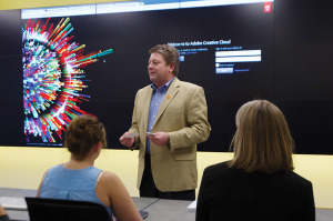 Jim Holscher, Adobe's vice president of education field operation.