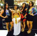 Cleópatra com pintura corporal, Helena e as modelos Ana Leal e Marcela Leal!