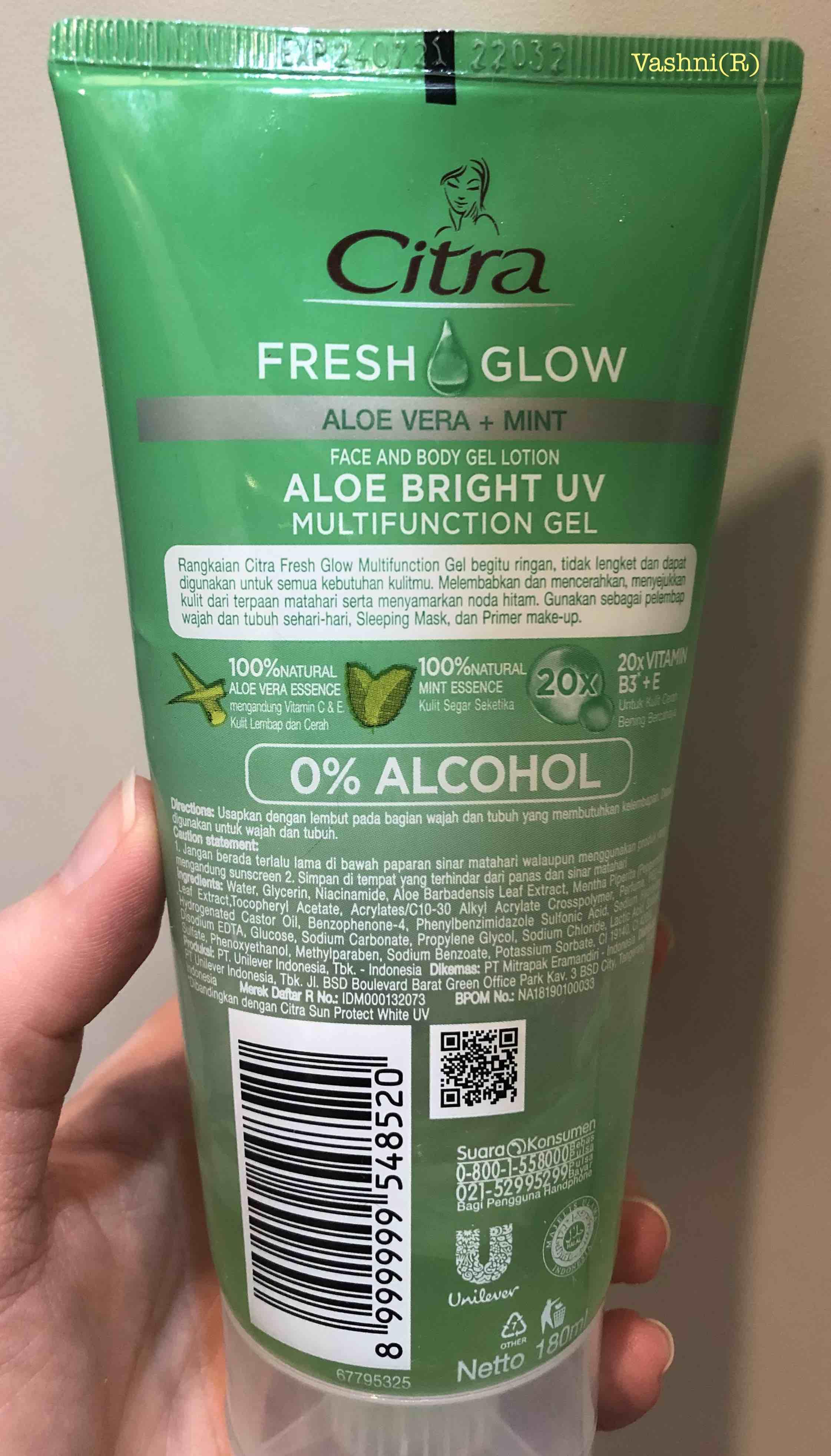 Citra Aloe Vera : citra, Citra, Fresh, Multifunction, Bright, Review, CleoVashni, Cogito