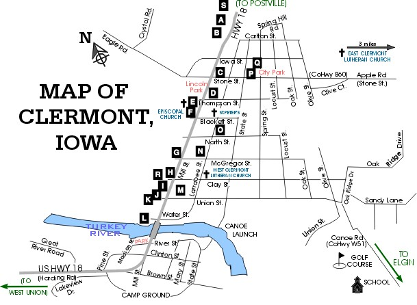 Maps of Clermont Iowa City of Clermont Iowa