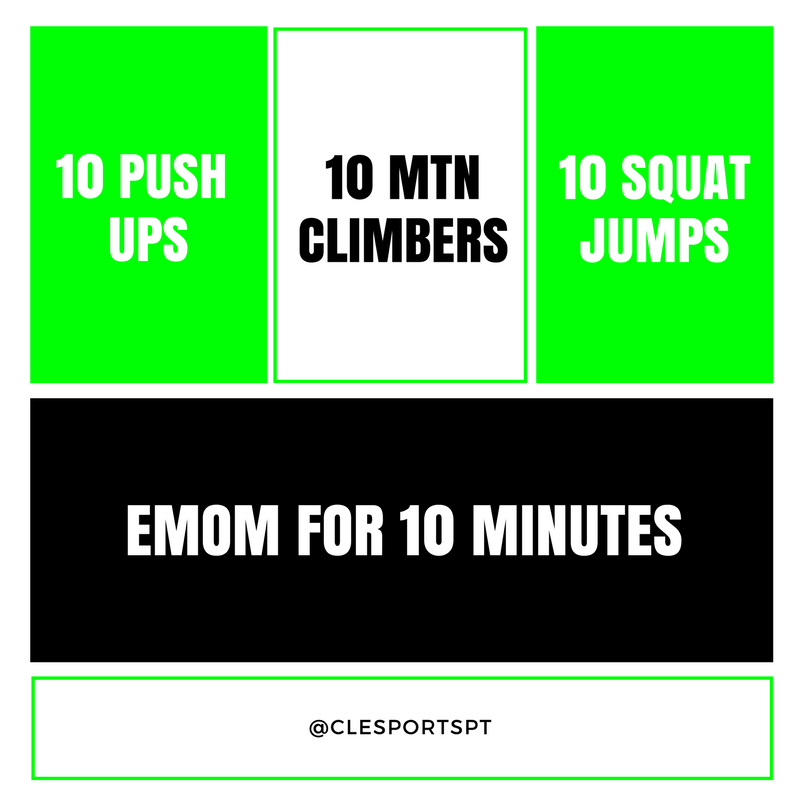 Weekend workout 4.6