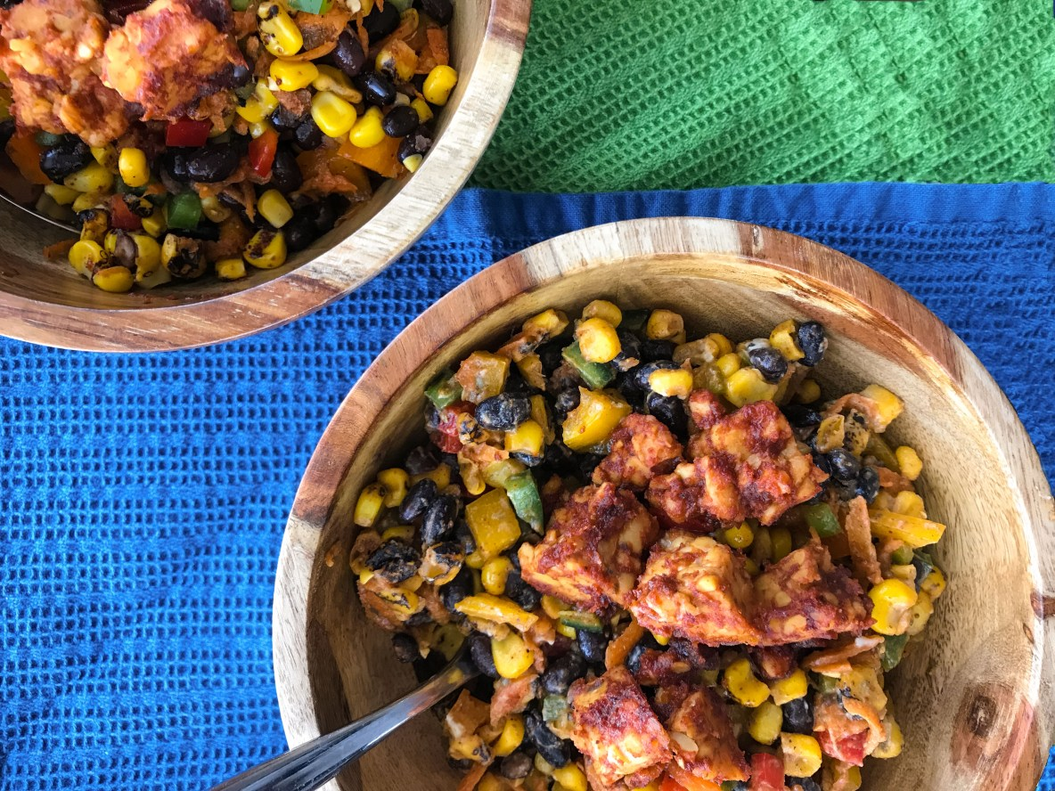 This tempeh bowl is creamy, savory, and packed with nutrients! Easy to make. Can be eaten hot or cold - perfect for busy workdays.