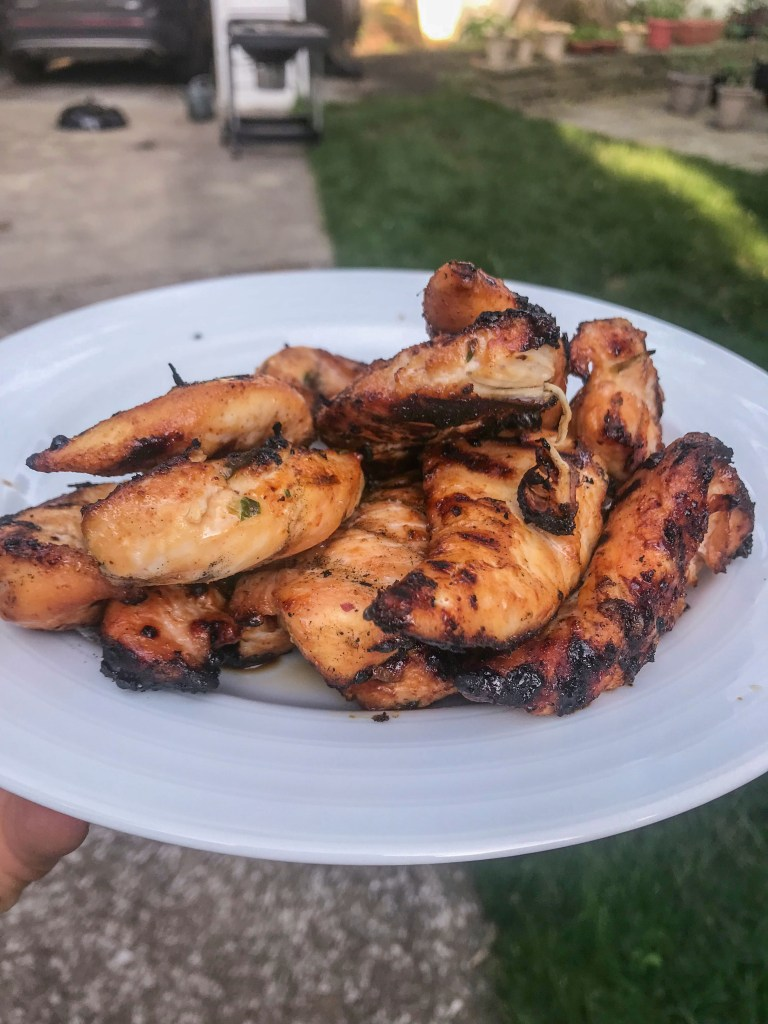 sugar cayenne chicken plated