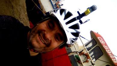 Yo en el puerto Calderano