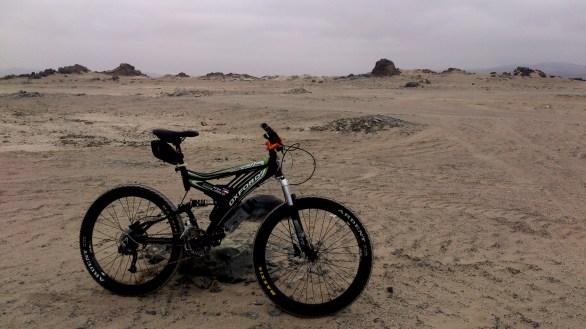 Vista recorriendo el desierto, genial