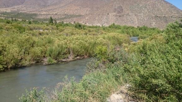 Paisaje del rio choapa