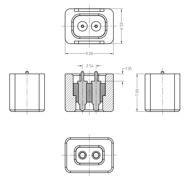 Round type magnetic dc power connector I magnetic