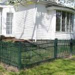 Green Steel Fence