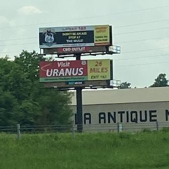 Uranus 26 miles ahead