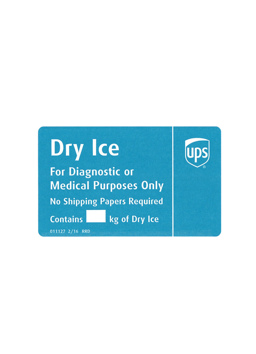 Dry Ice Sticker : sticker, Label-ups, Cleveland, Clinic, Laboratories