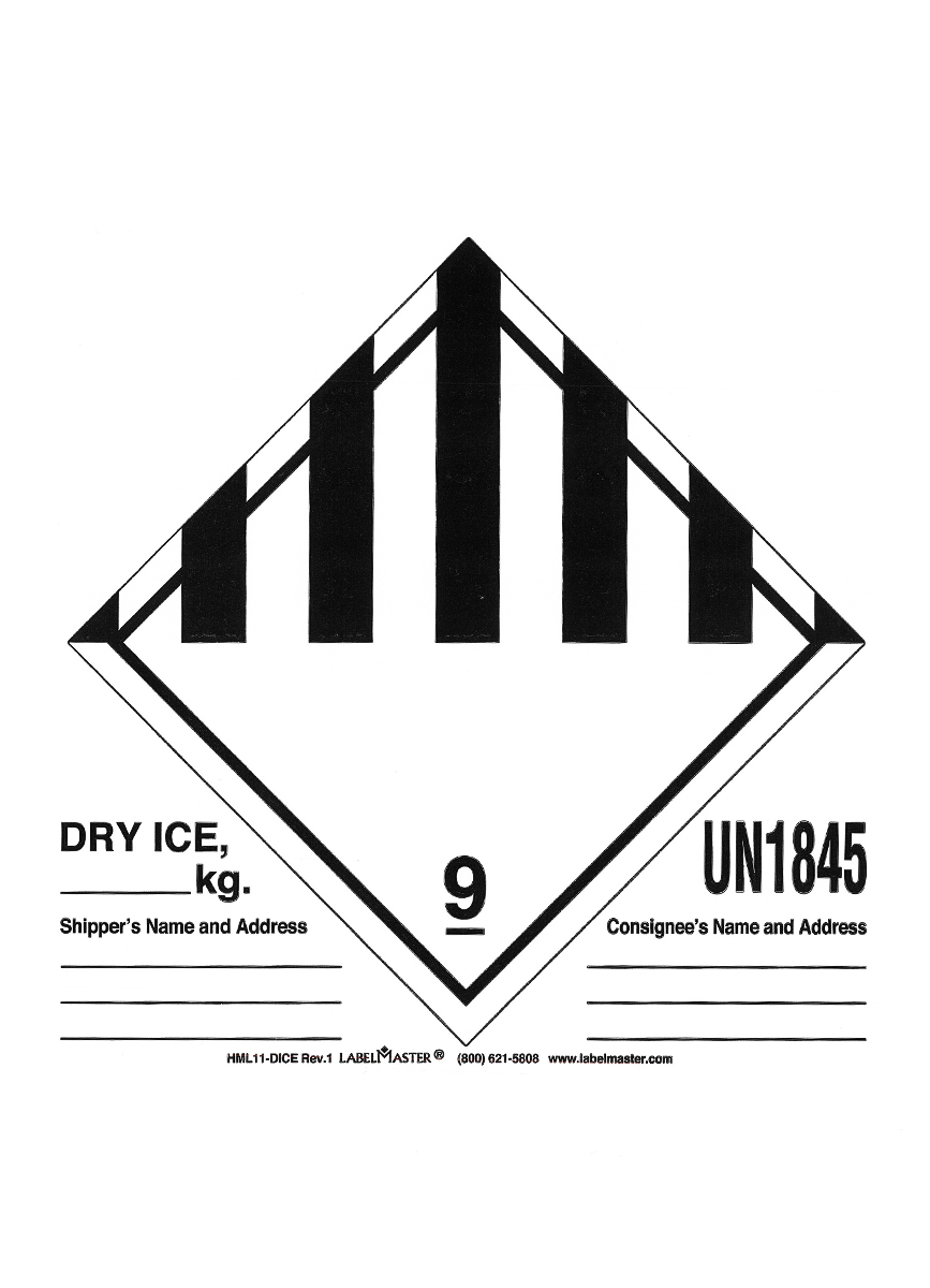 Dry Ice Sticker : sticker, Label, Cleveland, Clinic, Laboratories