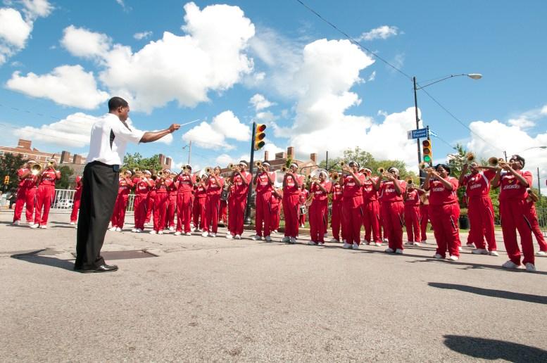 Shaw High School Marching Band - Cleveland Garlic Festival 2012