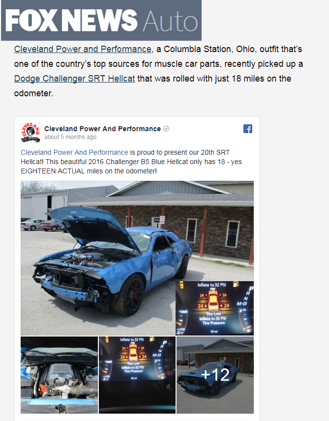 Wrecked Hellcat : wrecked, hellcat, Wrecked, Hellcat, Cleveland, Power, Performance
