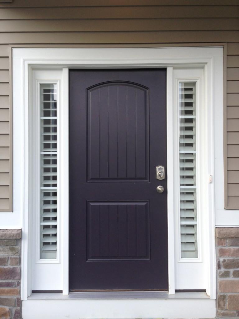 Entry Door Sidelight Window Shutters