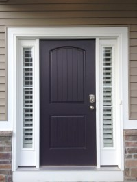Entry Door Sidelight Window Shutters | Cleveland Shutters