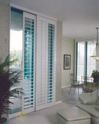 Sliding Glass Door Window Shutters | Sunburst Shutters
