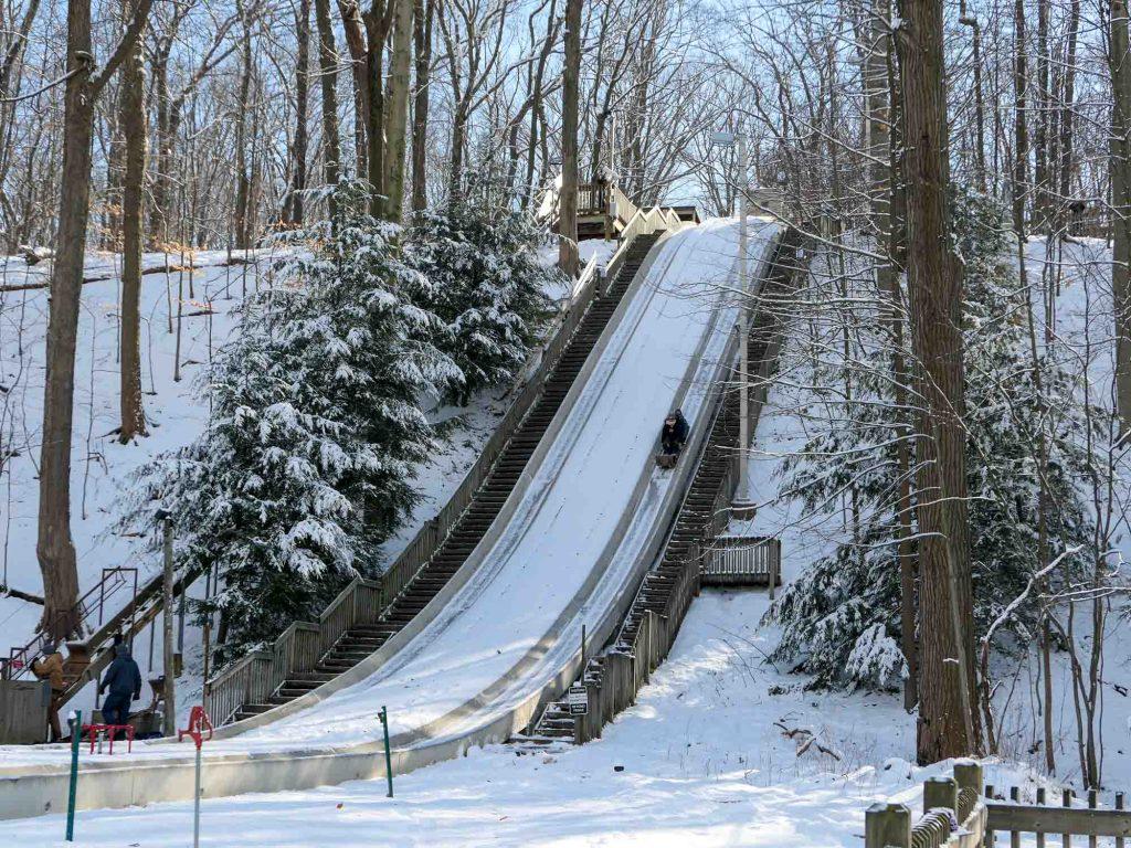 Cleveland toboggan chutes