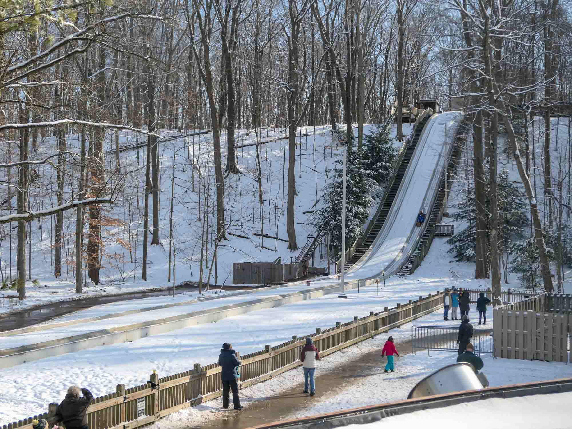 Winter Adventure at the Cleveland Metroparks Toboggan Chutes